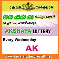 AKSHAYA LOTTERY RESULTS Today