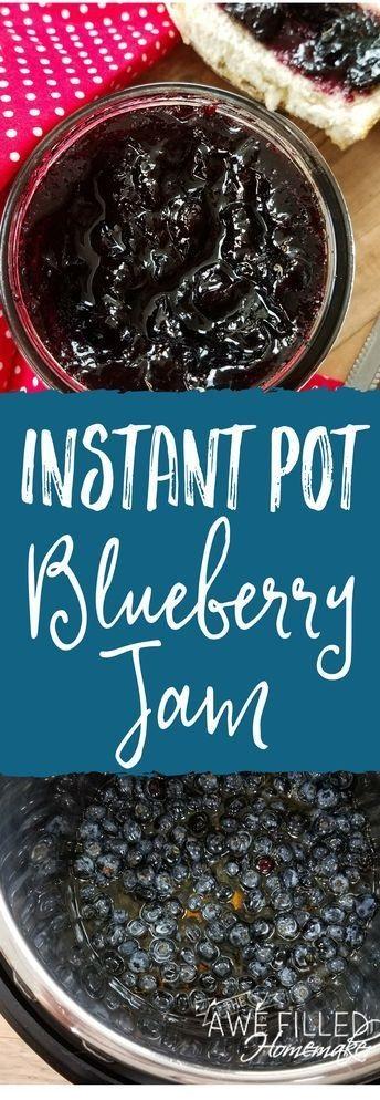 Instant Pot Blueberry Jam