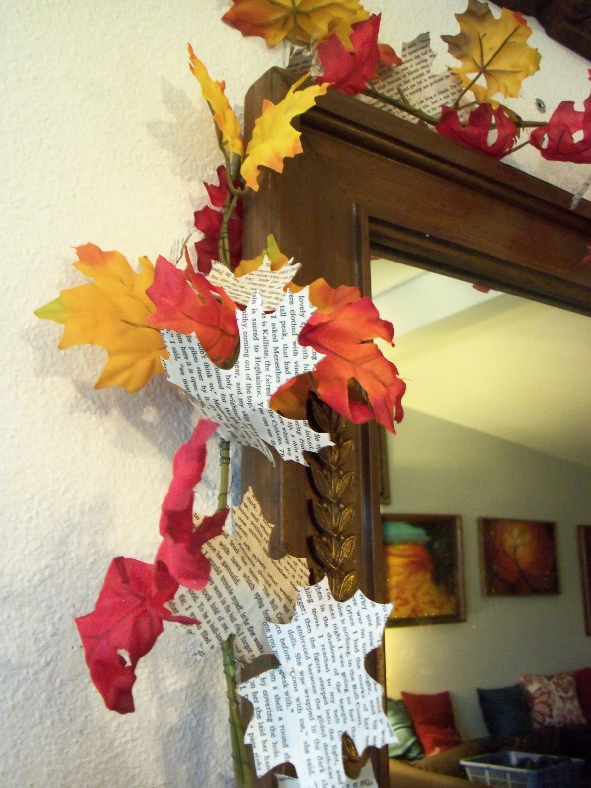 Fall Decor To Make Make The Best Of Things Book Page Leaf Garlands