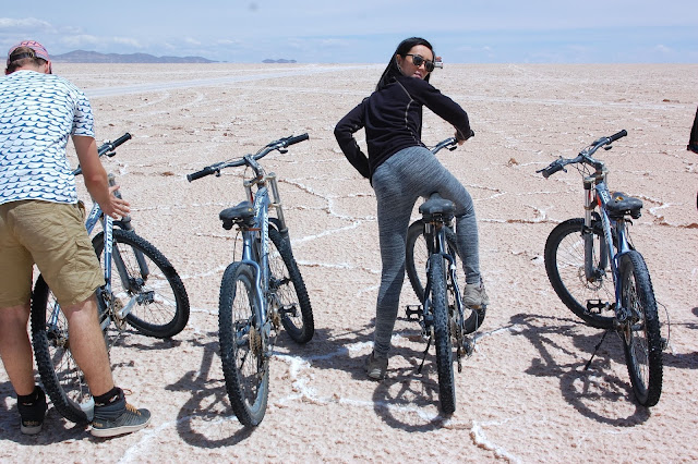 bike on salt flats