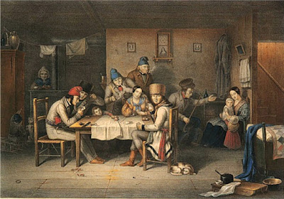 French Canadian habitants playing at cards