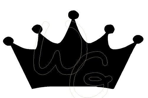 Wall Graffiti Princess Crown