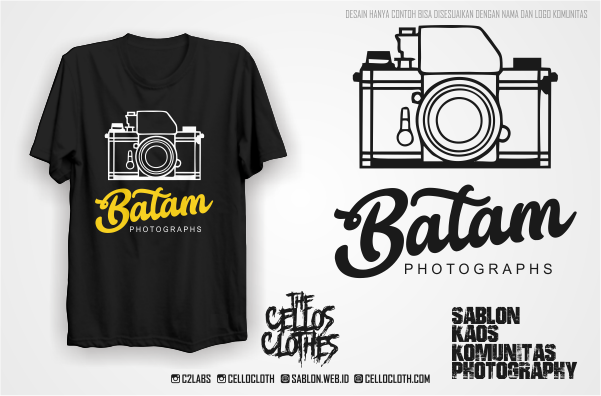 Sablon Kaos Photography untuk Komunitas Photographer