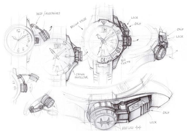 Dibujo Hamilton Khaki Navy Frogman