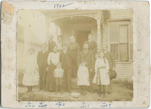 1902 Photograph of the Mitchell Family Reunion at Randolph, Maine: also Chase, MacBurnie, Crandall, Hunt