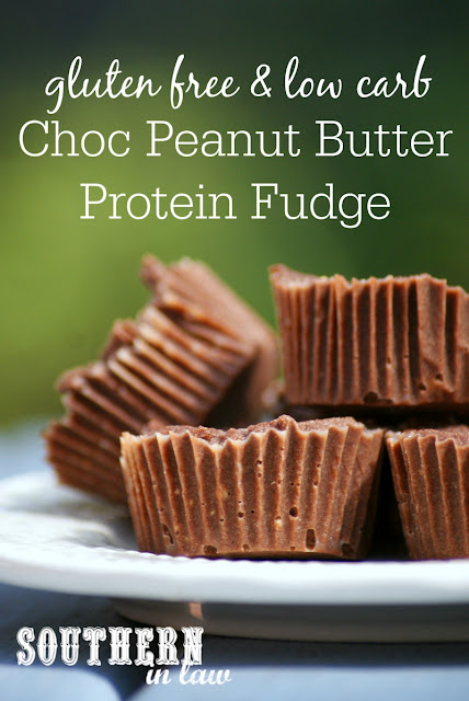 Low Carb Chocolate Peanut Butter Protein Fudge Recipe  low fat, gluten free, high protein, clean eating friendly, refined sugar free, healthy