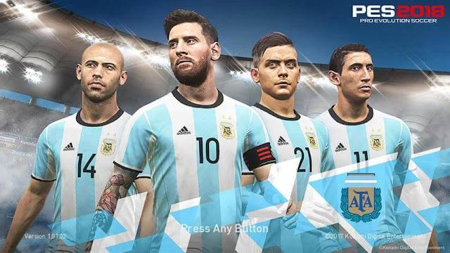 Argentina Start Screen PES 2018