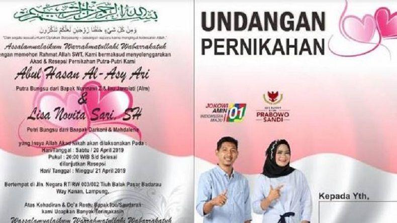 Pendukung Jokowi dan Prabowo Menikah