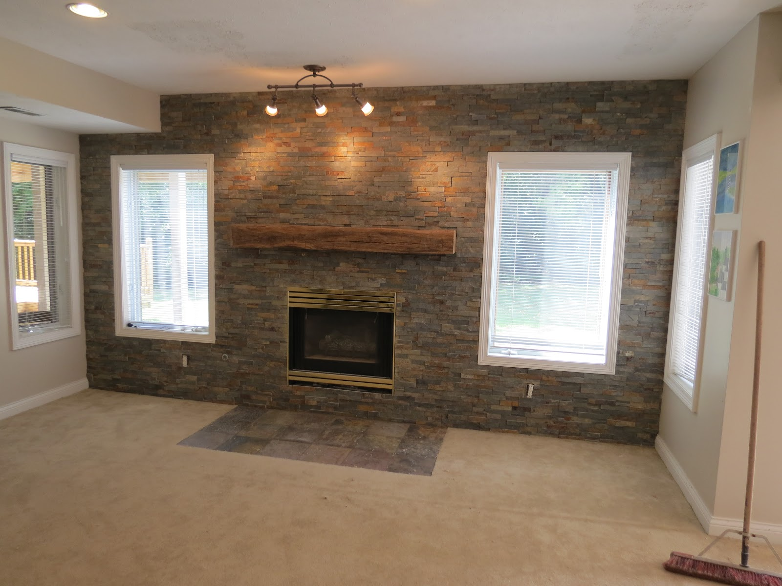 Accent Stone Wall Basement Idea For The Home Pinterest