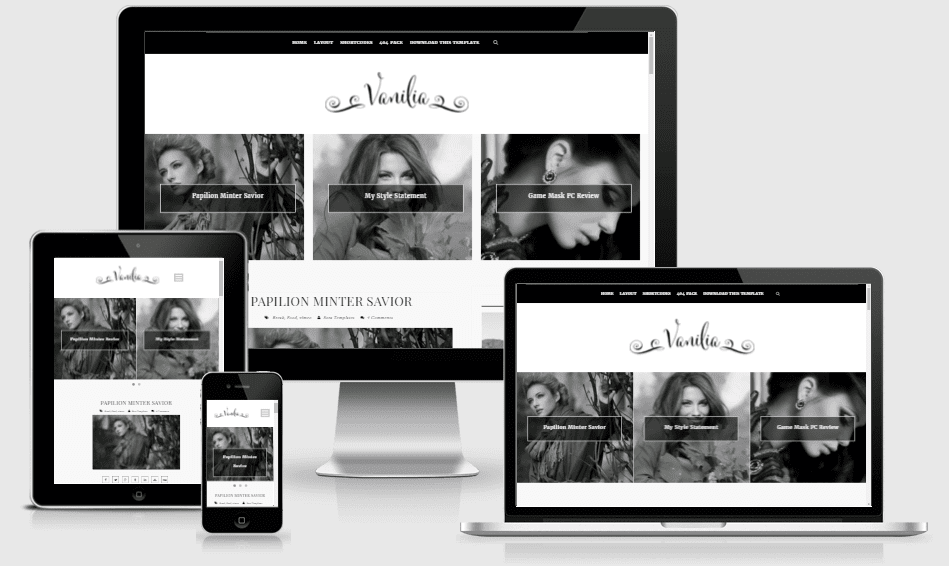 Vanilia - Responsive Clean & Personal Blogger Template