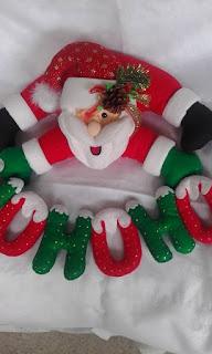 Papá Noel HOHOHO colgante de paño lency