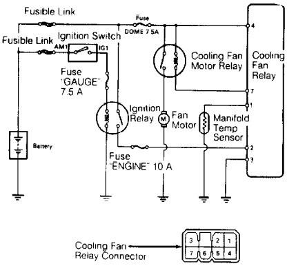 Wiring Diagrams - Toyota Land Cruiser 1989 Cooling Fan Wiring Diagrams