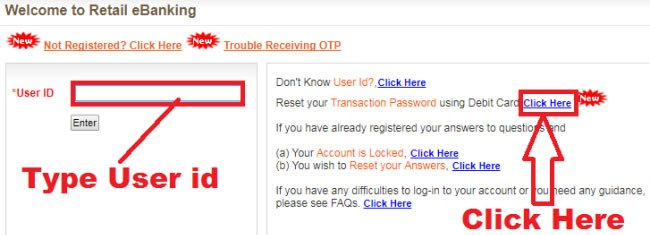 how to reset bank of baroda transaction password