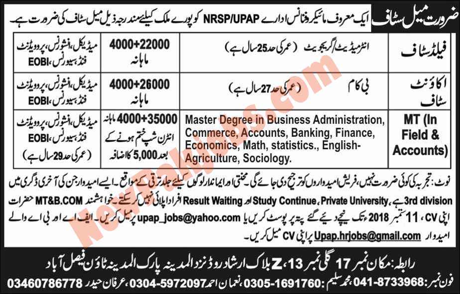 NRSP Microfinance Bank Limited Jobs in Faisalabad