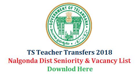 Nalgonda Teacher Transfers Seniority and Vacancy Lists of GHM SGT SA LP PET Download