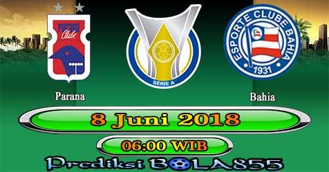 Prediksi Bola855 Parana vs Bahia 8 Juni 2018