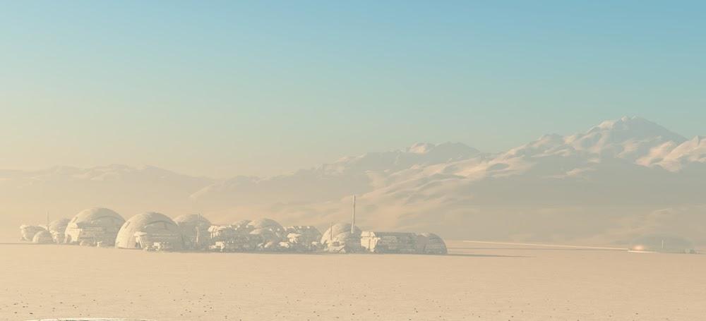 Mars colony by Mike Kiev