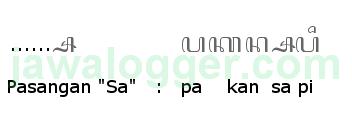 aksara pasangan sa dalam penulisan bahasa Jawa