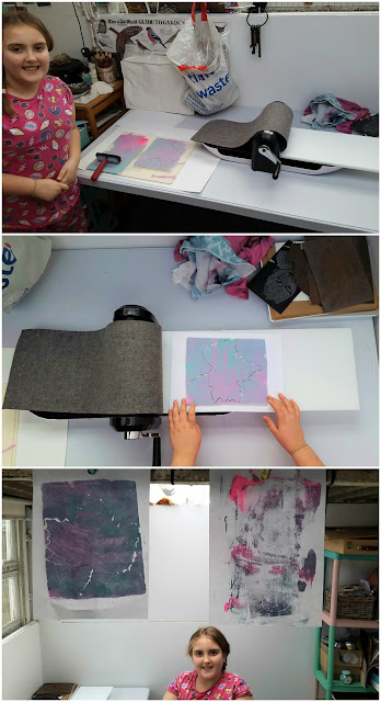 Whoopidooings: What's On Your Workdesk Wednesday - Mini mono printing - XCut XPress