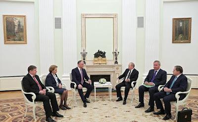 Russian President Vladimir Putin and President of Moldova Igor Dodon.