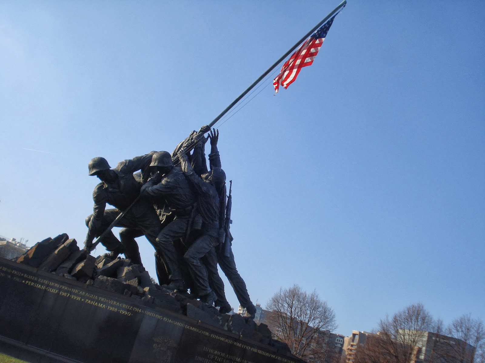 Iwo Jima Monument in Arlington, VA
