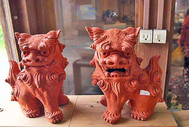 Shisa at Yomitan Pottery Village