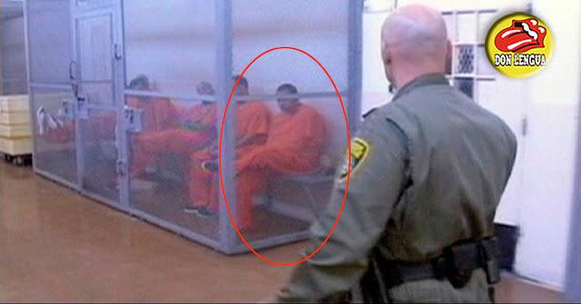 Así se ve Alejandro Andrade vestido con su braga naranja de Prisionero en los Estados Unidos