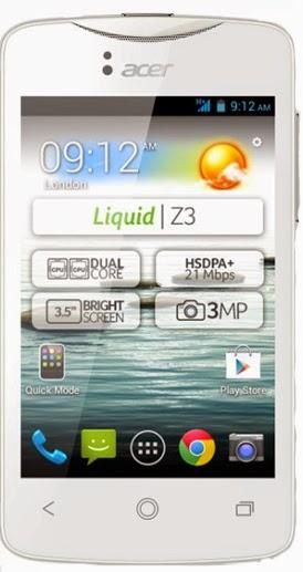 Harga Acer Liquid Z3  baru dan bekas