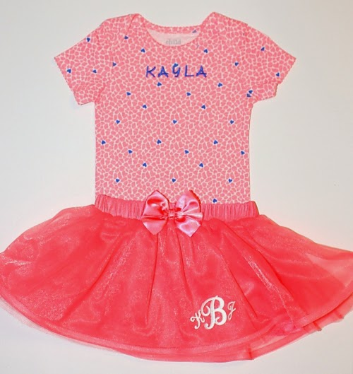 personalized girls tutu joy iron-on letters