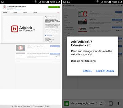 يمكنك تحميل الاضافة الخاصة بحجب اعلانات اليوتيوب