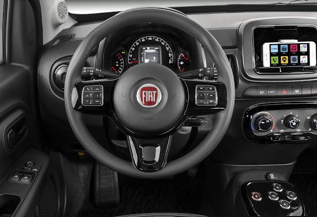Novo Fiat Mobi 2018 - preços - interior - painel