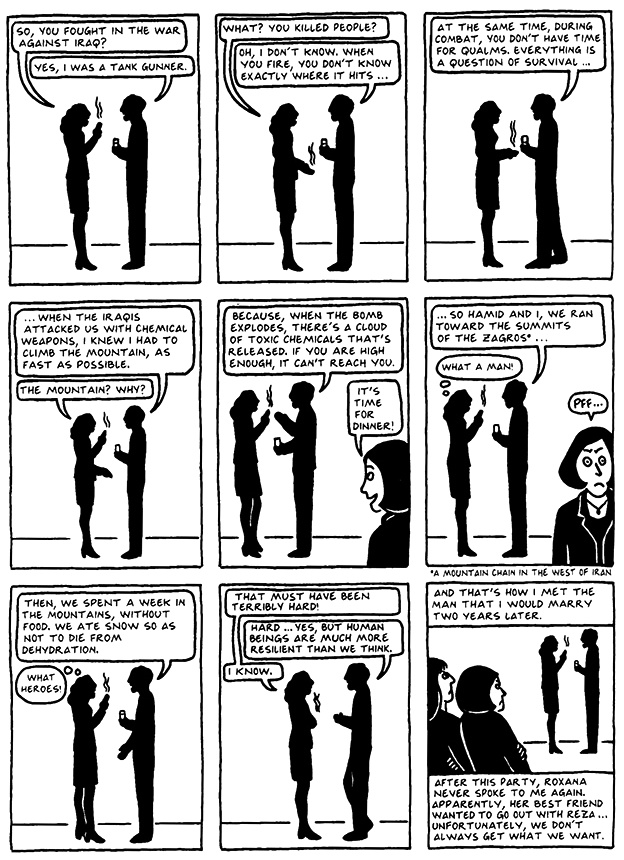 Read Chapter 13 - The Exam, page 124, from Marjane Satrapi's Persepolis 2 - The Story of a Return