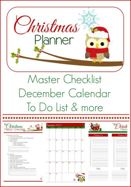 My Owl Barn Printable Christmas Planner