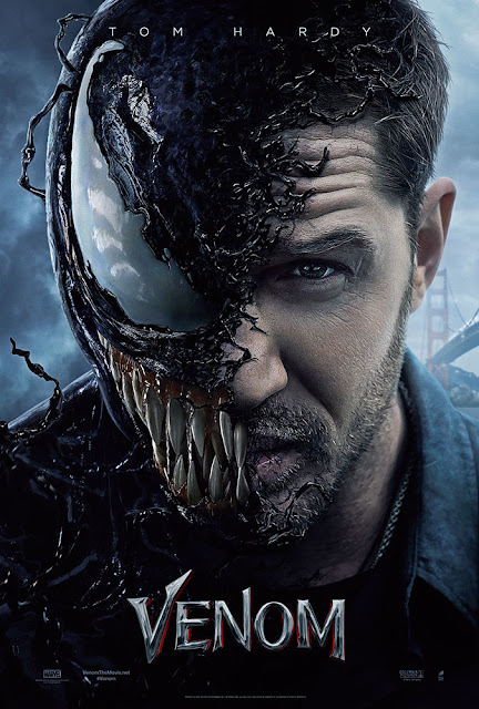 Venom 2018 movie poster Sony Marvel Tom Hardy Michelle Williams Riz Ahmed
