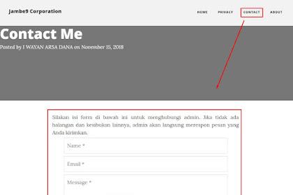 Cara Membuat Halam Contact Me Tanpa Registrasi di Blogger (Blogspot)