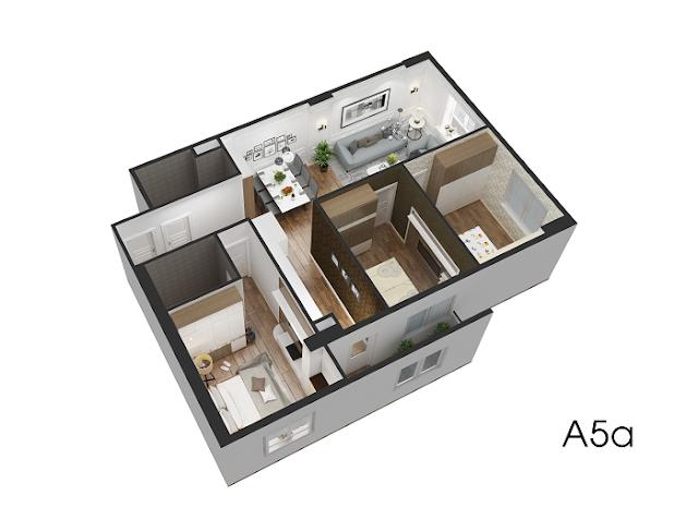 Thiết kế chi tiết căn hộ A5 Eco City