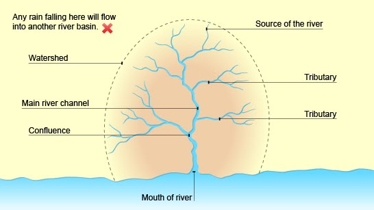 Igcse Geography Help Features Of A Drainage Basin