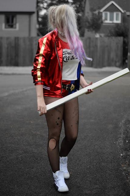 Sammi Jackson - Harley Quinn Outfit - Halloween Look 2 #bmspookbook