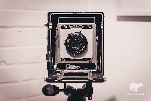 The medium format wonder, Graphlex Speed Graphics view camera.