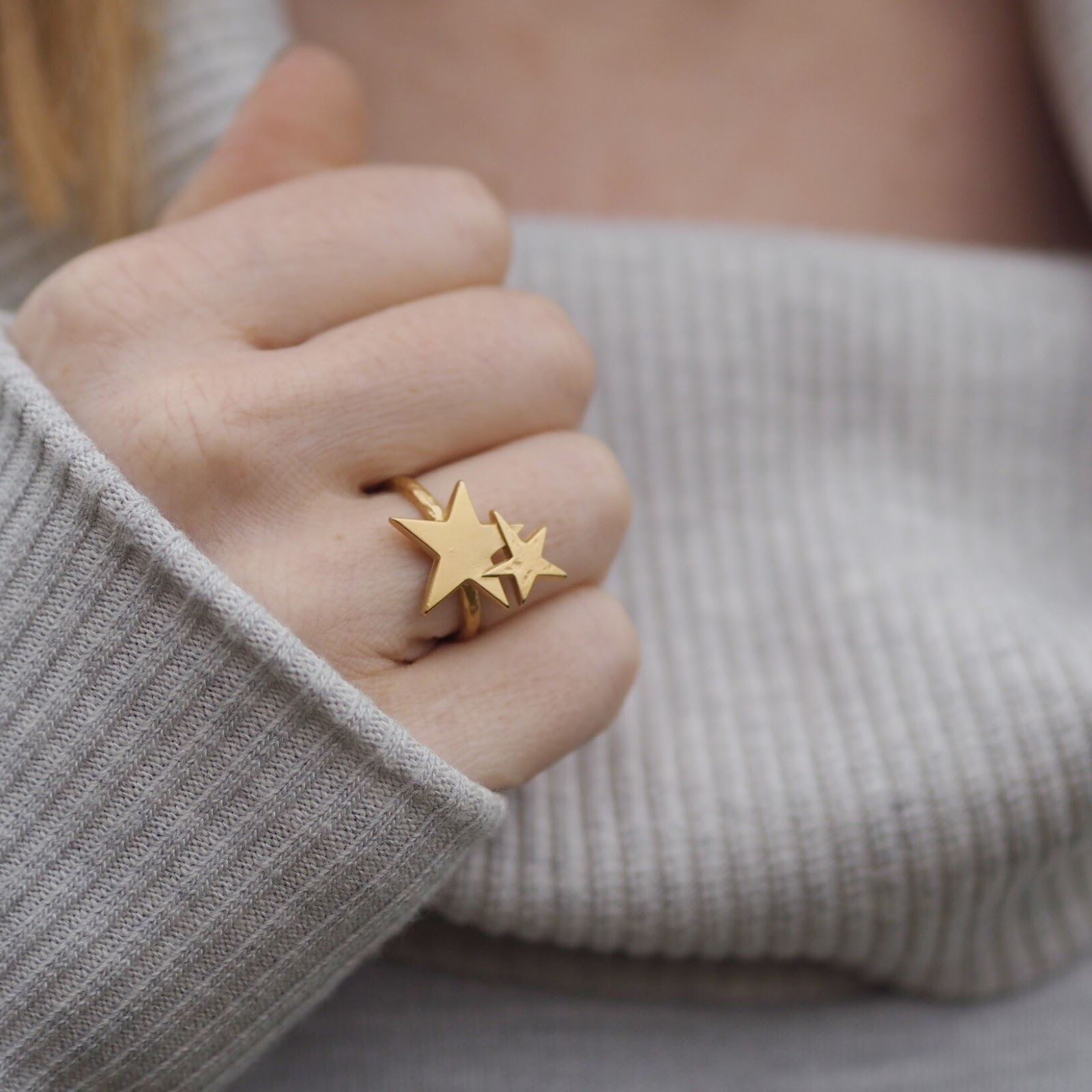 Danon jewellery gold stars ring