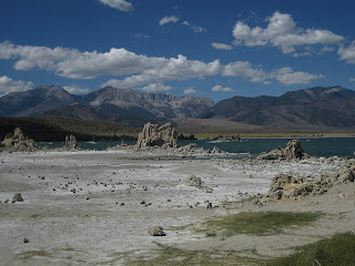 Alkaline deposits exposed along the shore of Mono Lake, California