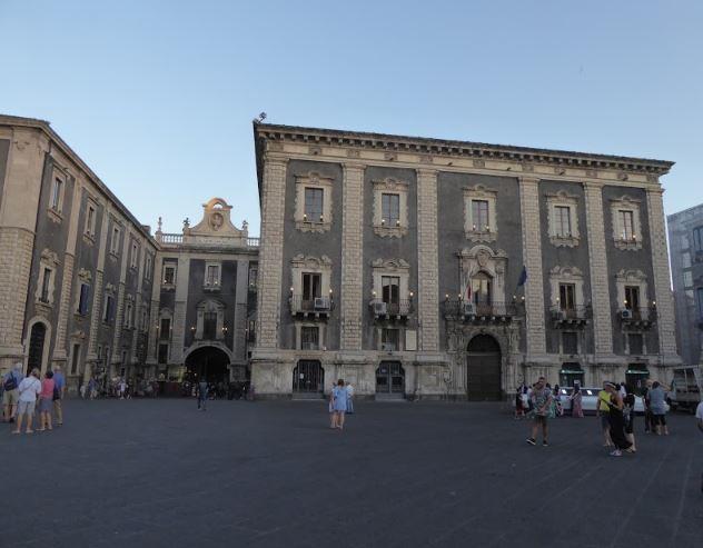 palazzo del seminario e porta uzeda a catania