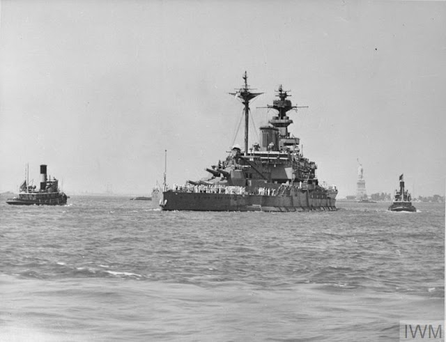HMS Malaya in New York Harbor, 9 July 1941 worldwartwo.filminspector.com