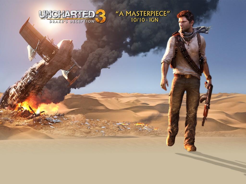 The Elderly Gamer Uncharted 3 Drakes Deception Wallpaper