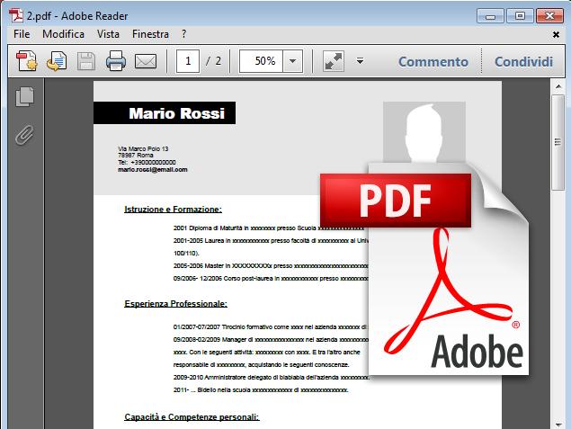 Curriculum Vitae Come Inviare Via Mail E Convertire In Formato Pdf