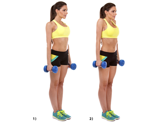 Reduce Back Fat Fast For Women- Dumbbell Shoulder Shrugs