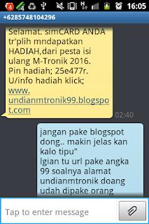 Modus Phising penipuan lewat pesa singkat sms