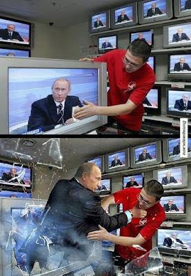 Lustige Bilder Staubwischen - Putin wird böse