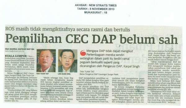 DAP Memang Parti Haram Pun, Sudah 5 Tahun Gagal Patuhi ROS