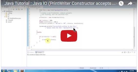 Java ee java tutorial java io printwriter constructor for Object pool design pattern java
